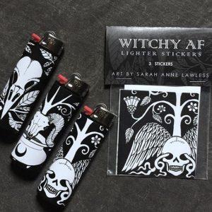 Witchy AF Lighter Stickers